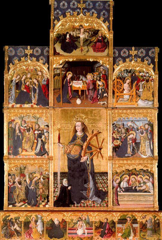 1 Retablo de Santa Catalina de Alejandría. Iglesia parroquial de Villahermosa del Río
