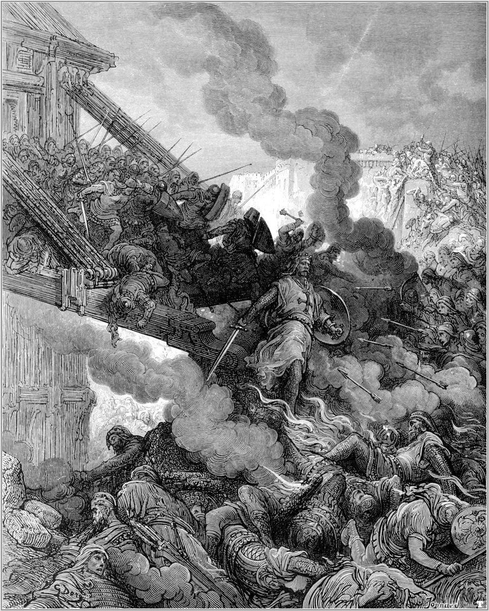 El ejército cristiano toma las murallas. Gustavo Doré (1832-1883)