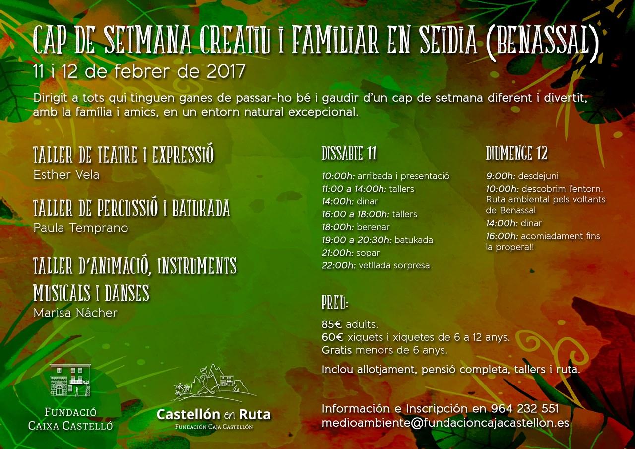 FIN DE SEMANA CREATIVO Y FAMILIAR Seidia valenciano