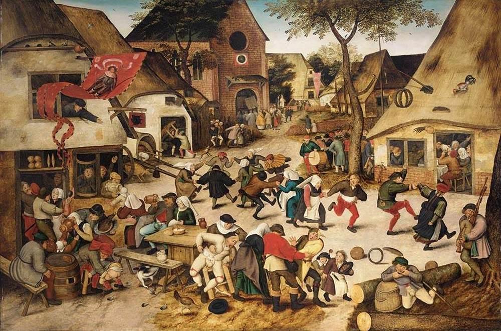 Escena cotidiana de la Baja Edad Media. Obra de Pieter Brueghel, el Joven (1564-1638)