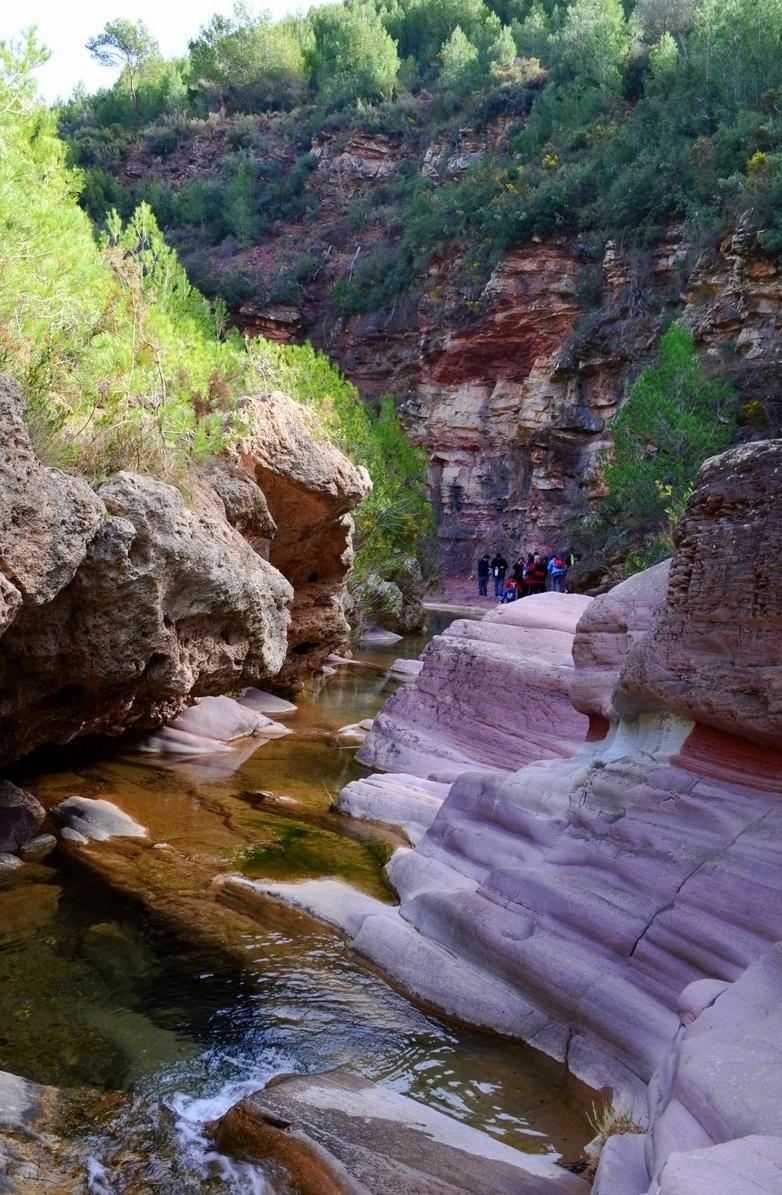 Ruta al río Chico y pozo negro de Fuentes de Ayódar
