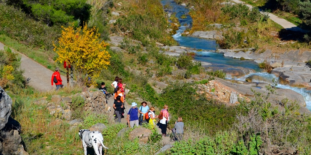 ruta familiar Molinos de agua Lucena del Cid Castellón