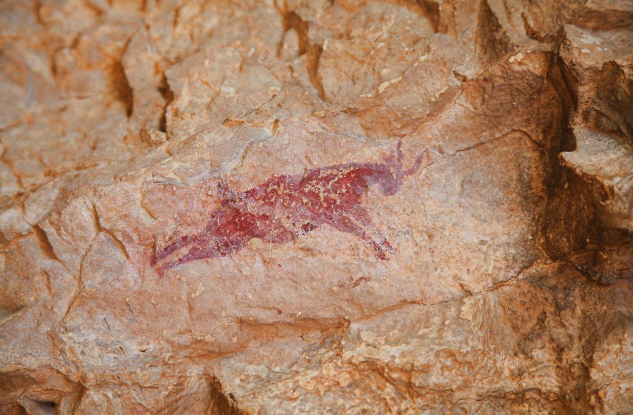 Pintura rupestre en Cova Remígia