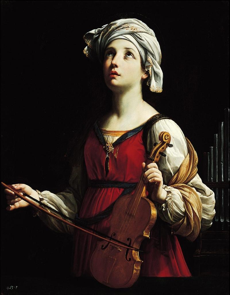 Santa Cecilia. Oleo sobre lienzo. Guido Reni, 1606