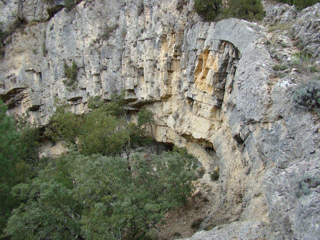 Roquedo en el Barranco de la Carcellera de Terme, Els Ports. Autor, Virgili Verge
