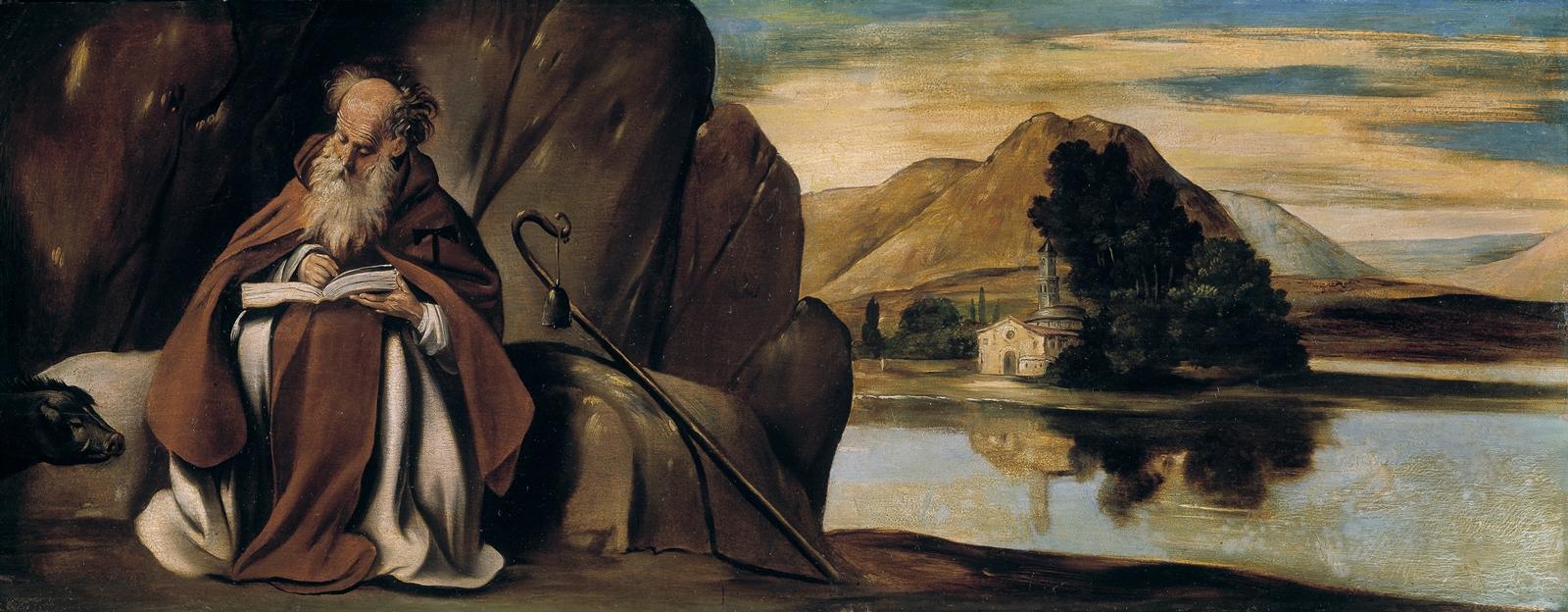 San Antonio Abad. Oleo sobre lienzo. Fray . Museo del Prado
