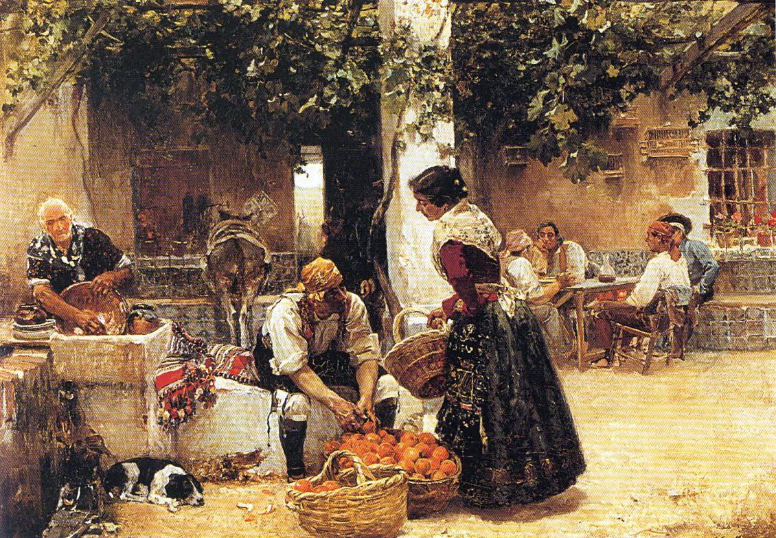 El naranjero. Óleo sobre lienzo. Joaquin Sorolla. 1891