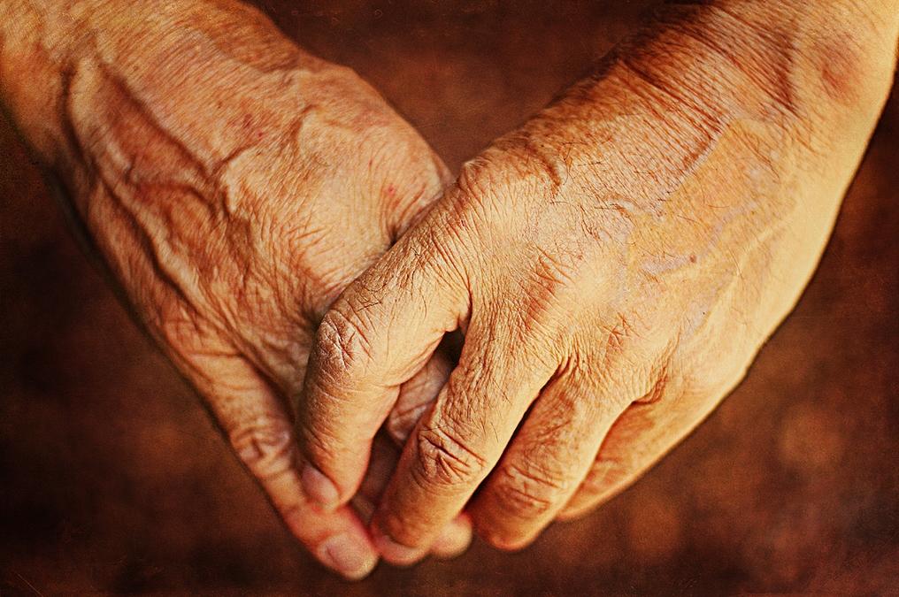 Las cansadas manos de un labrador. Autora, Esther Antoranz