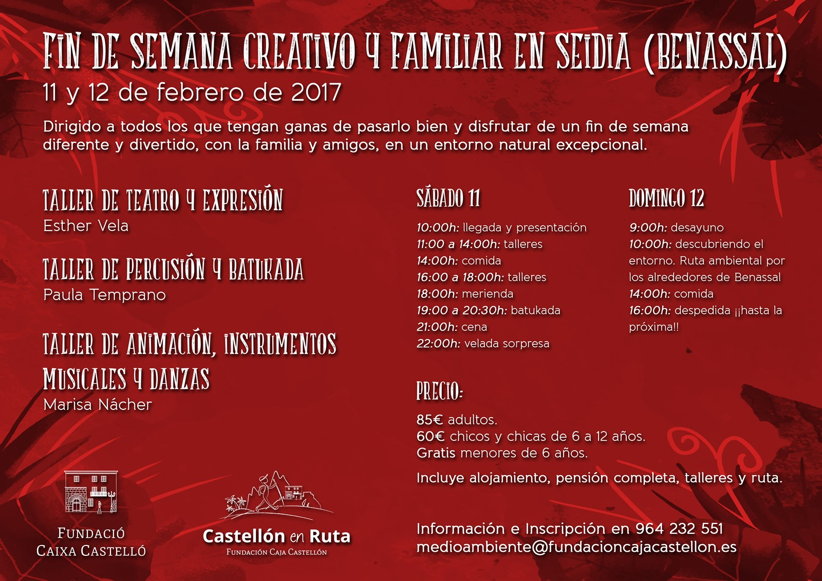FIN DE SEMANA CREATIVO Y FAMILIAR Seidia castellano